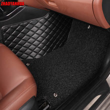 ZHAOYANHUA car floor mats for Toyota Camry Corolla RAV4 Mark X Crown Verso Cruiser L Waterproof leather carpet liners(China)