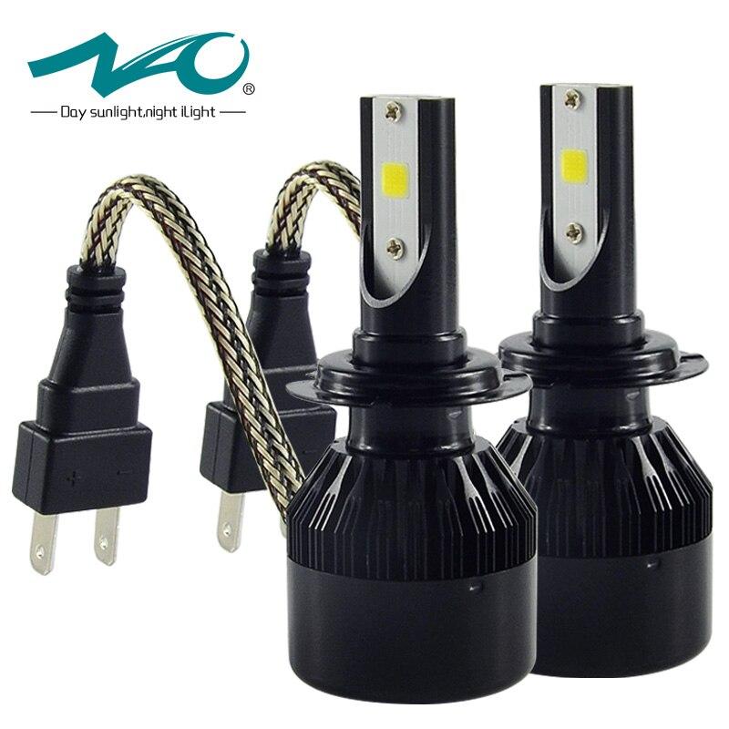 ФОТО NAO LED Car Headlight H4 H1 H7 H8/H9/H11 9005/HB3 9006/HB4 H3 880/881/H27 Fog Bulb Lamp COB External Light Super Bright #C6S