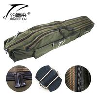 Camada multifuncional portátil da vara de pesca da lona 110/120/130/150 cm do portador do saco de pesca|Bolsas de pesca| |  -