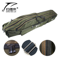 Portable Multifunction Fishing Bag Carrier Canvas 110/120/130/150CM Fishing Rod Layer