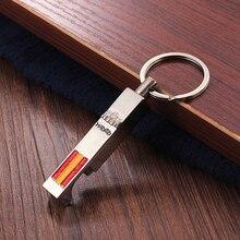 Vicney New Style Spain Flag Opener Keychain High Quality Zinc Alloy Madrid Alcala Gate Pattern Featured bottle opener Key Chain