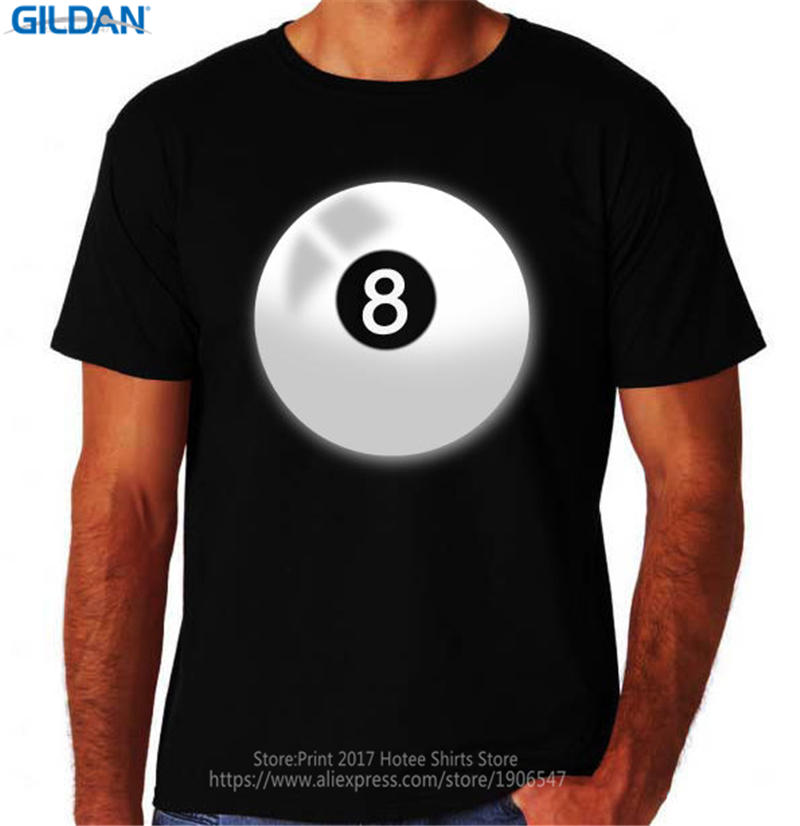 Good T Shirts Men 39 S Regular Crew Neck Unique Office 8 Ball Pool Billiards Game Sporter Short Sleeve Tee Shirt in T Shirts from Men 39 s Clothing