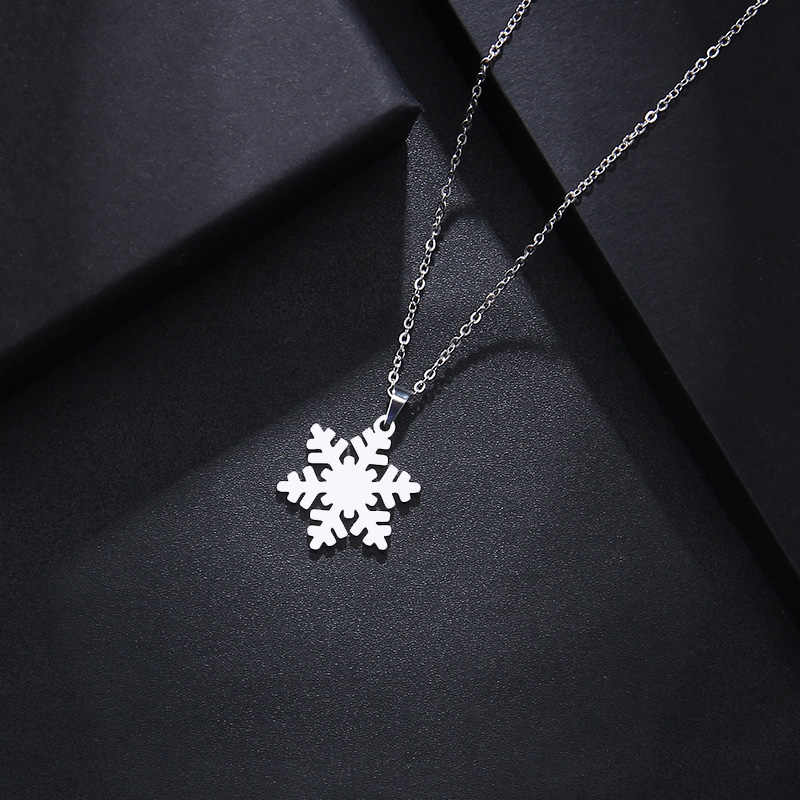 DOTIFI Stainless Steel Necklace For Women Man Lover's Snow Gold And Silver Color Pendant Necklace Engagement Jewelry