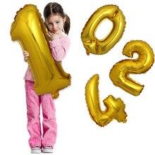 1pc 30inch 실버 & 골드 번호 0-9 호일 풍선 디지털 baloes 신년 생일 이벤트 파티 용품 웨딩 장식