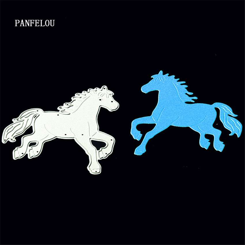 PANFELOU Christmas Horse pentium Scrapbooking DIY album cards paper die metal craft stencils punch cuts dies cutting