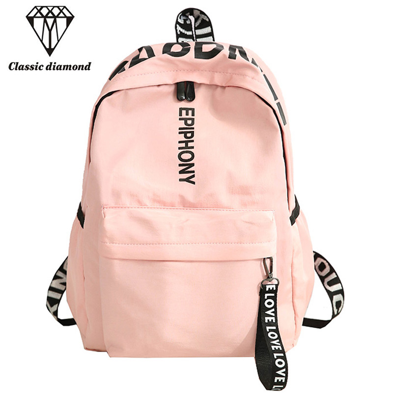 2018 Simple Women Backpack Classic University  Students Ribbons School Bags For Teenagers Girl Fashion Rucksack Mochila Escolar