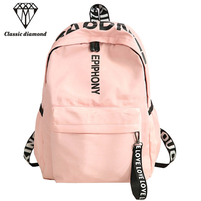 04cc0cb8f76a 2018 Simple Women Backpack Classic University Students Ribbons School Bags  For Teenagers Girl Fashion Rucksack Mochila