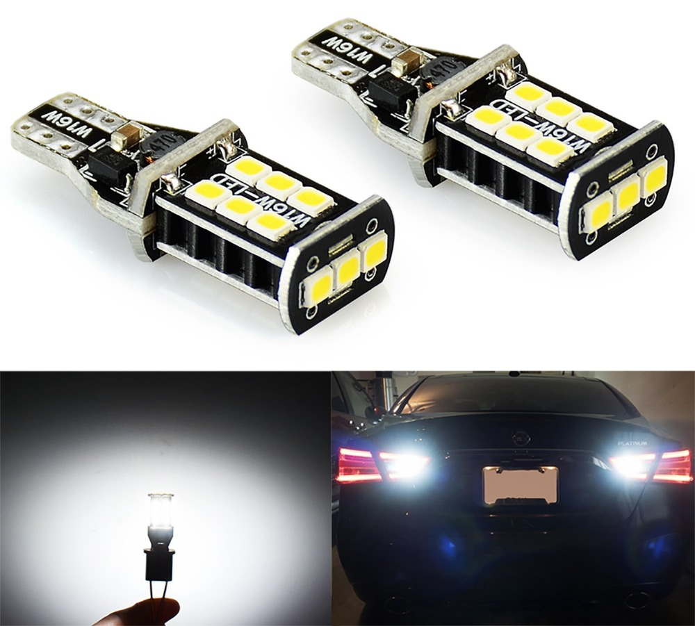 2PCS 800 lumens Extremely Bright Error Free 921 912 PX Chipsets LED Bulbs For Backup Reverse Lights, Xenon White 2pcs high quality superb error free 5050 smd 360 degrees led backup reverse light bulbs t20 for hyundai i30