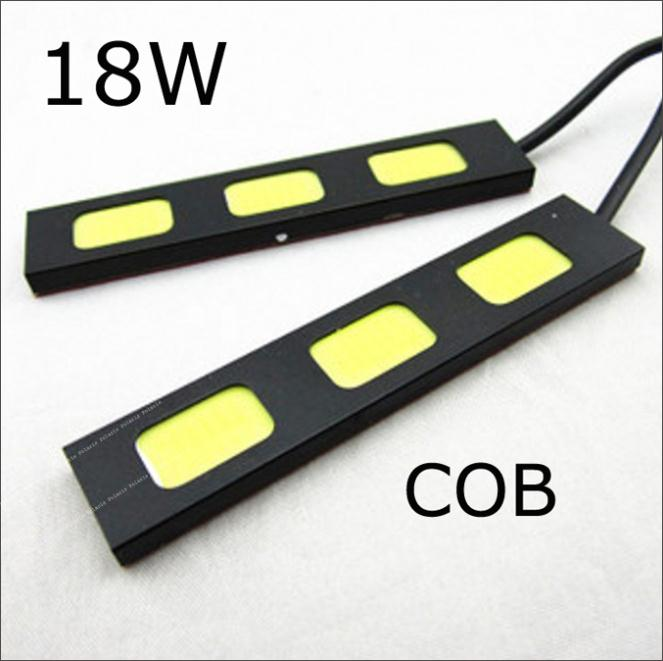 1pair 18w 3 led COB DRL Eagle eye ultralight white fog <font><b>lamps</b></font> daytime running light XH-3 <font><b>E4</b></font> waterproof free shipping image