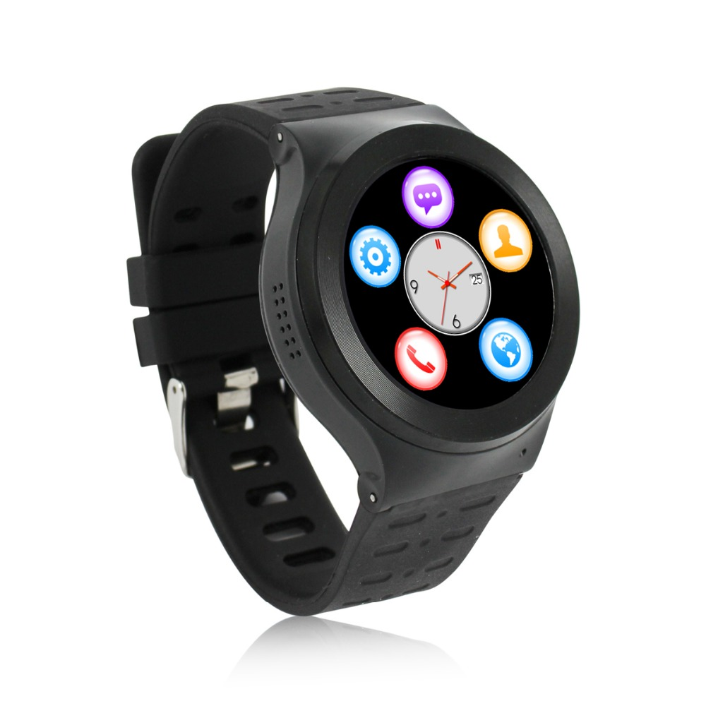 Full Round WIFI font b Smartwatch b font Android 5 1 512M 8G SIM CARD android