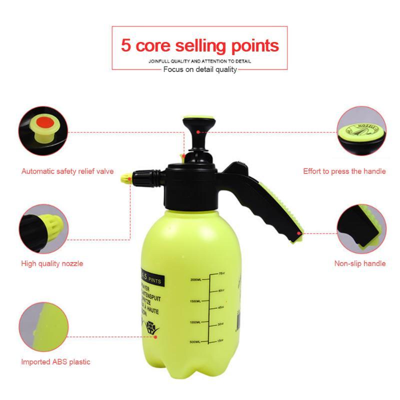 0.8/1/1.5/2l spray de alta pressão garrafa mini jardim spray chaleira planta flores rega pode plástico pulverizador ferramentas jardinagem