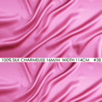 SILK CHARMEUSE SATIN 114cm Width 16momme 100 Pure Mulberry Silk Fabric Patchwork Wedding Dress Sewing Fabric