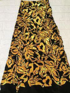 Image 5 - Tissu africain en dentelle, robes de soirée, dentelle, velours violet, verte, paillettes, tissu de haute qualité, 2018