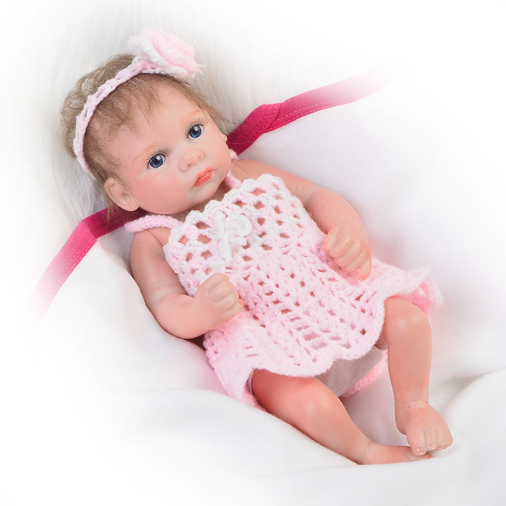 Lifelike 11 Princess Reborn Dolls Babies Full Silicone Vinyl Newborn Doll Alive Girl Baby Toy 27 cm Fashion Kids Birthday Gifts odeon light подвесная люстра odeon light piemont 3998 8