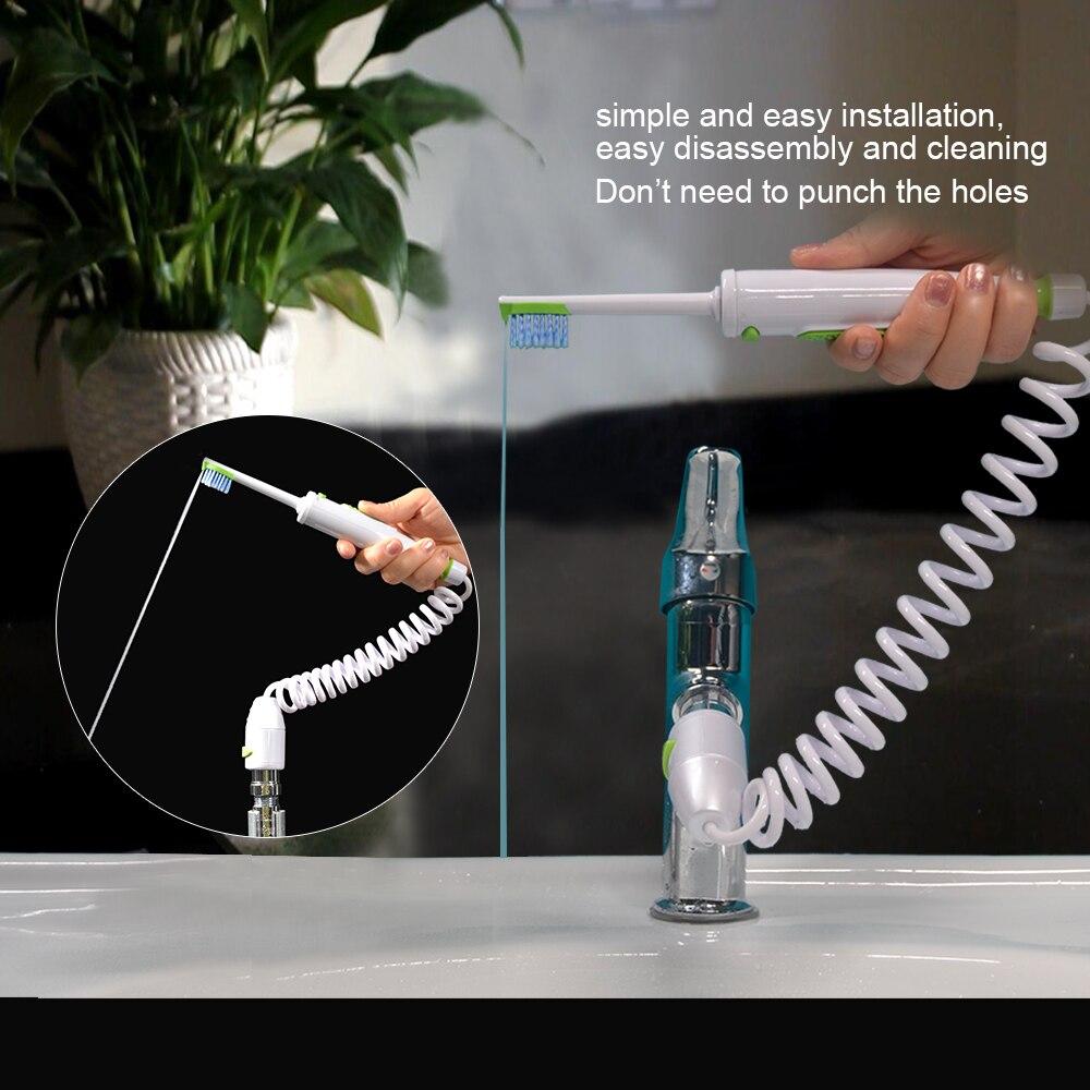 Torneira de Água Irrigador Oral Flosser Dental Flosser Dental Palito Dental Jato de Água de Irrigação Implementa Cabeças Escova de Dentes