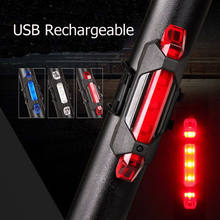 Hot Selling USB Rechargeable Bike LED Tail Light Bicycle Safety Cycling Warning Rear Lamp Free Shipping(China)