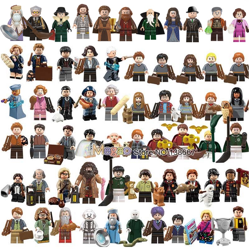 Magic School s  Rubeus Dobby Hagrid Seamus Finnigan Hermione Bricks Model building Blocks Toys(China)