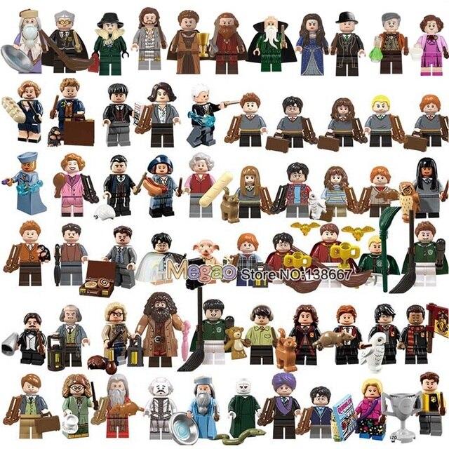 Magic School s  Rubeus Dobby Hagrid Seamus Finnigan Hermione Bricks Model building Blocks Toys