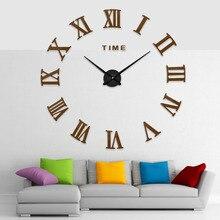 Modern Creative Wall Sticker European Style Clocks 3D Large Number Clock Horloge DIY Mirror Digitial Watch