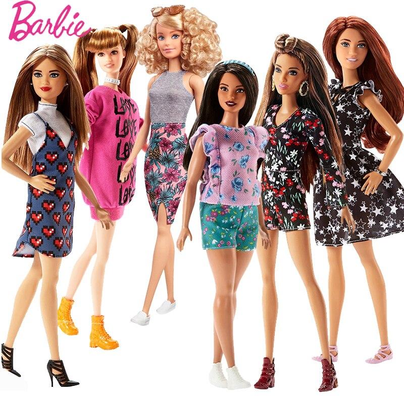 Originale Barbie Fashionistas Bambola Ragazza Principessa