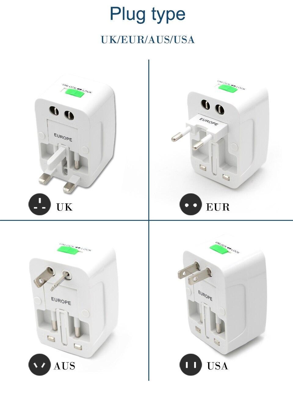 Prise électrique panneau multifonction US//UK//EU Plug Chargeur mural Port Socket nouveau