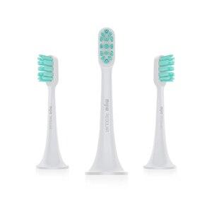 Image 5 - Têtes de brosse à dents électrique sonique dorigine XIAOMI MIJIA 3 pièces brosse à dents intelligente DuPont tête de brosse pièces de rechange Pack hygiène buccale