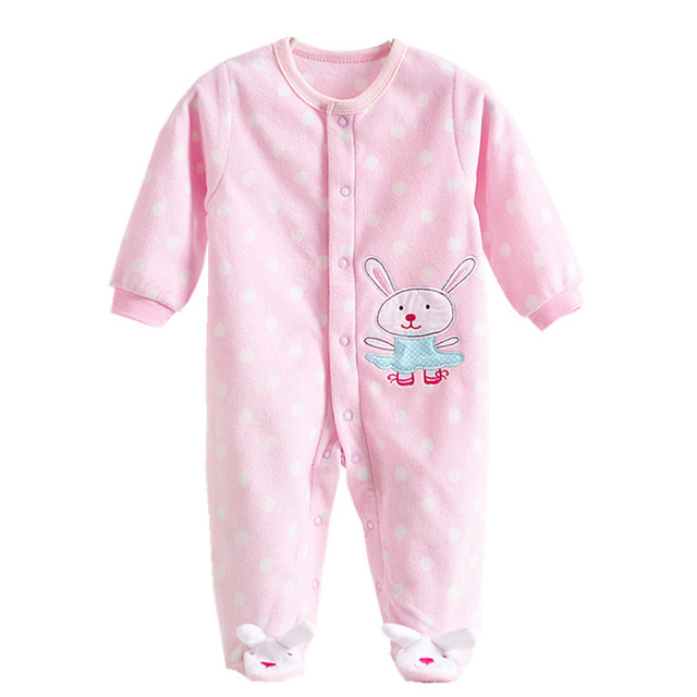 Cute Pink Baby Girl Rompers