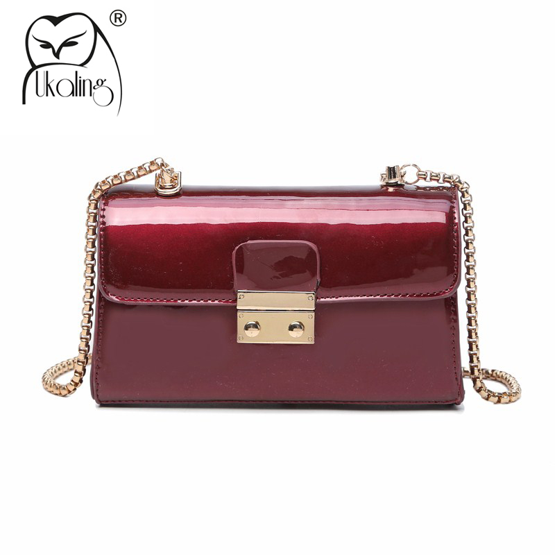 UKQLING Small Women Messenger Bags Famous Brand Candy Color Women Bag Ladies Handbag Day Clutches Purse with Long Chain casual small candy color handbags new brand fashion clutches ladies totes party purse women crossbody shoulder messenger bags