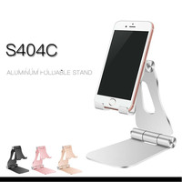 Aluminium Alloy Desktop Foldable Mobile Phone Flat Bracket Smartphone Desk Stand For Xiaomi Redmi 4X Tablet