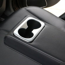 Car Styling Inner Back Row Water Cup Holder Frame Cover Decoration Trim Sticker For KIA Sportage