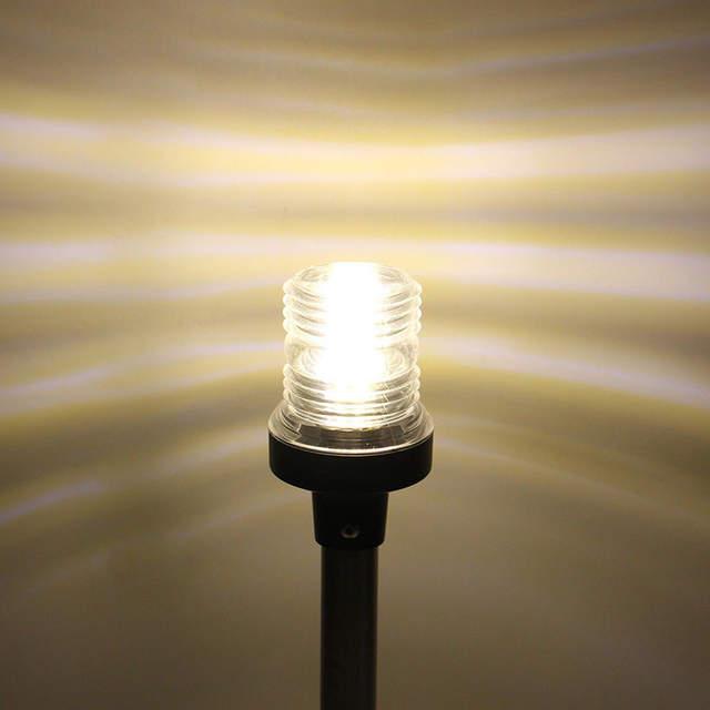US $42 8 |Marine Boot Verlichting Lamp Pontoon Bright Beacon LED Navigation  Stern Anchor Pole Light 360 Illumination Indicator Light-in Indicator