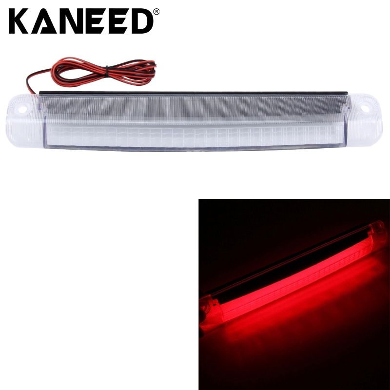 KANEED LED High Mount Stop Rear Tail Warning Light Lamp Red Car Auto Third 3RD Brake Light Parking 18 SMD-2835 LED 40 led 34cm dc12v led light vehicle car light source auto fog stop tail rear brake warning light lamp high quality red