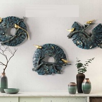 Creative Round Shape Animal Birds Wall Decoration 3D Wall Hanging Home Decoration Living Room Background Mural Ornaments R1450