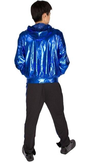 2017 Spring Autumn Men Blue bomber Jacket Stage Performance Wear paillette male casaco Hip Hop dance coat 6