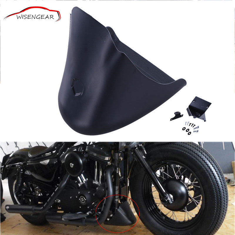 WISENGEAR Matte Black Lower Front Spoiler Chin Fairing Cover For Harley Sportster XL 883 1200 Motorcycle Accessories C/5 2x 9005 hb3 9006 hb4 h8 h11 55w 65w xenon halogen kit super white car bulb light headlights fog lights drl auto bulbs lamp 12v