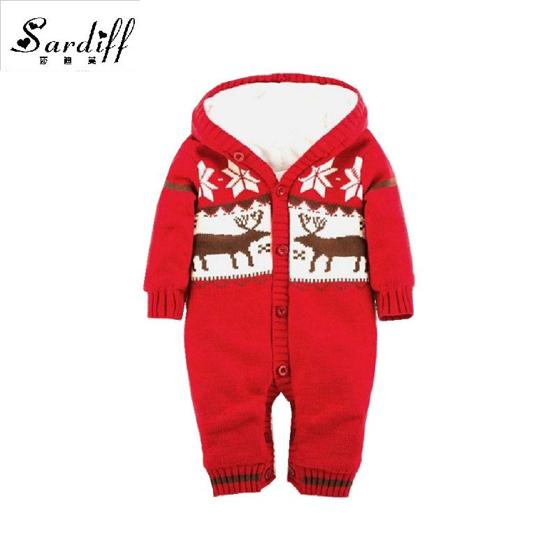 2017 Baby Jumpsuits Winter Overalls Deer Kinitted Rompers Climbing Clothes Sets for Newborn Boys Girls Costumes Hooded Sweater серьги с подвесками jv серебряные серьги с агатами ner316 bl gag wg