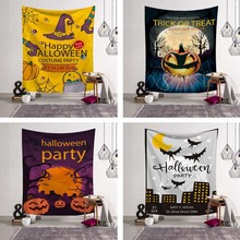 Halloween Wall Hanging Happy Halloween Cloak Collections Sign Door Window Ornament Party Supplies Textiles Easy Clean Fabric