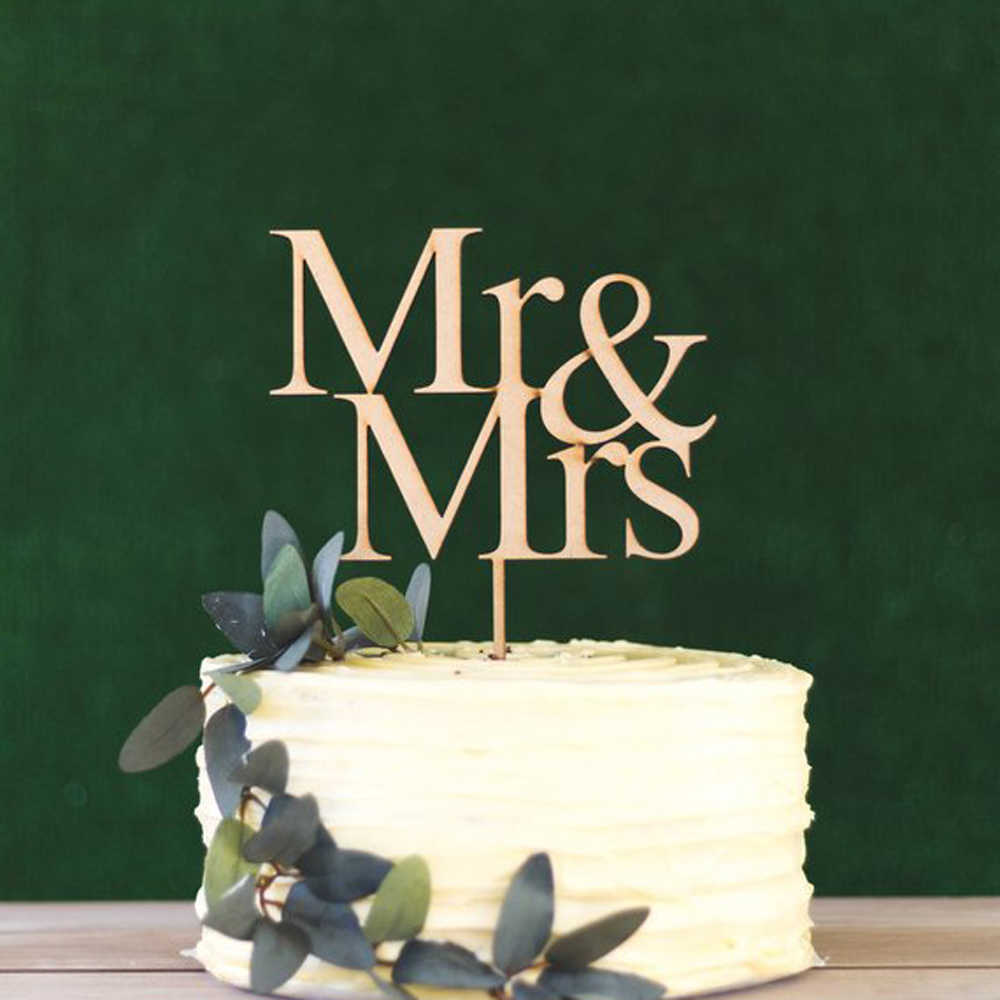 Mirror Gold Acrylic Mr and Mrs Cake Topper Bride and Groom Sign Wedding//Engagement Cake Toppers Decoration
