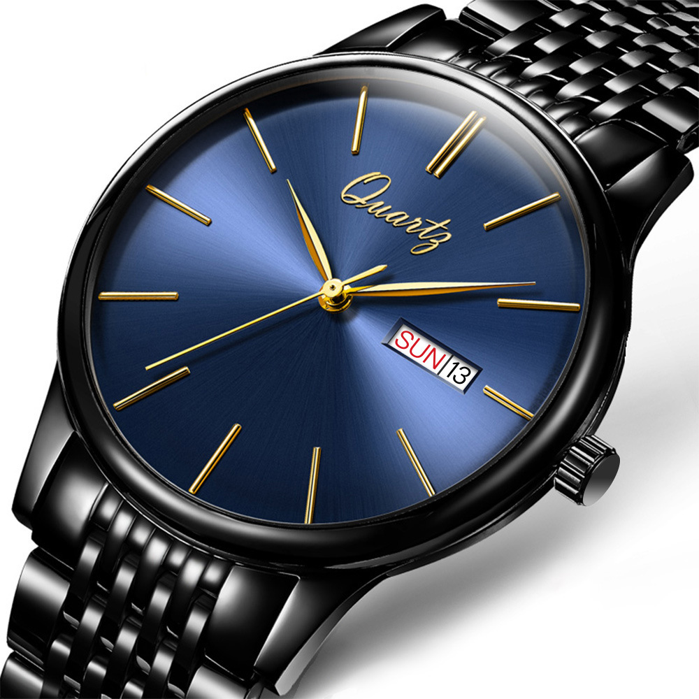 BOS Brand New Luxury Watch Men Fashion casual Waterproof Quartz Watches Ultra Thin Stainless Steel Wristwatch Relogio Masculino new arrival 2015 brand quartz men casual watches v6 wristwatch stainless steel clock fashion hours affordable gift