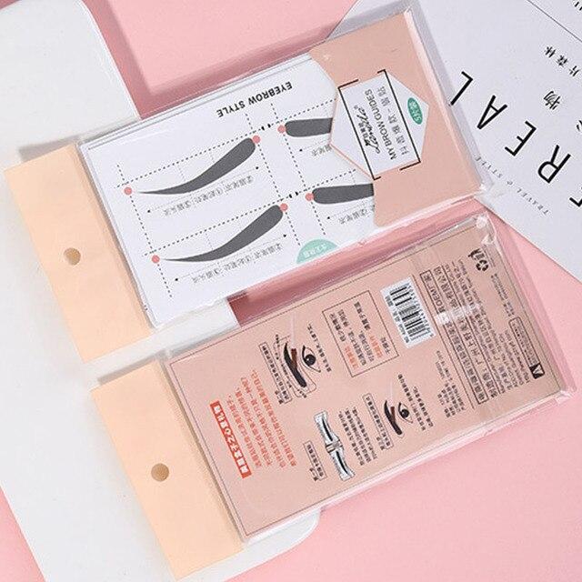 5pcs/lot Multi-use Eyebrow Stencils Stickers Natural Eyebrow Shape Card Template Eyebrow Helper Modeling Brow Lazy Beauty Tool 5