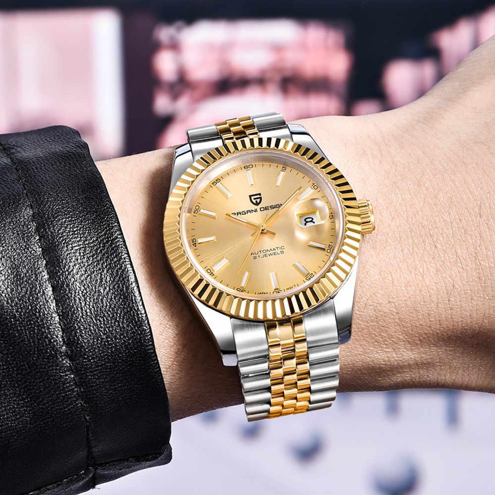 パガーニデザインのメンズ腕時計ブランドの高級ステンレス鋼防水スポーツビジネス機械式自動腕時計レロジオ Masculino