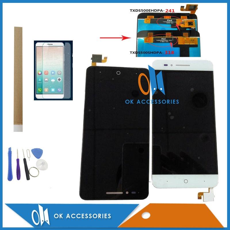 5 pouces de couleur blanche noire 100% testé pour ZTE Voyage Blade A610 écran LCD + écran tactile numériseur assemblée avec Kit