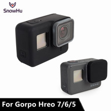 SnowHu for Go pro Accessories Soft Silicone Case Protection lens Cover for Gopro Hero 7 6 5 Action Camera Standard Frame GP502 snowhu for gopro accessories set for gopro hero 7 6 5 waterproof case protection frame monopod for go pro 7 6 gopro 5 gs73