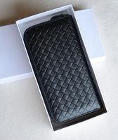 2014 New Woven DesignWomen Zipper Wallet Genuine Leather Handbag Clutch Purse Free Shipping