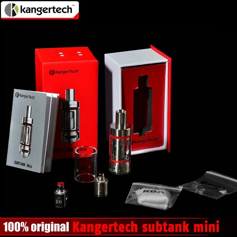 Promoción 100% original kangertech subtanque mini atomizador con bobina OCC 0.5ohm 1.2ohm 4.5 ml kanger subtank mini RBA tanque stock