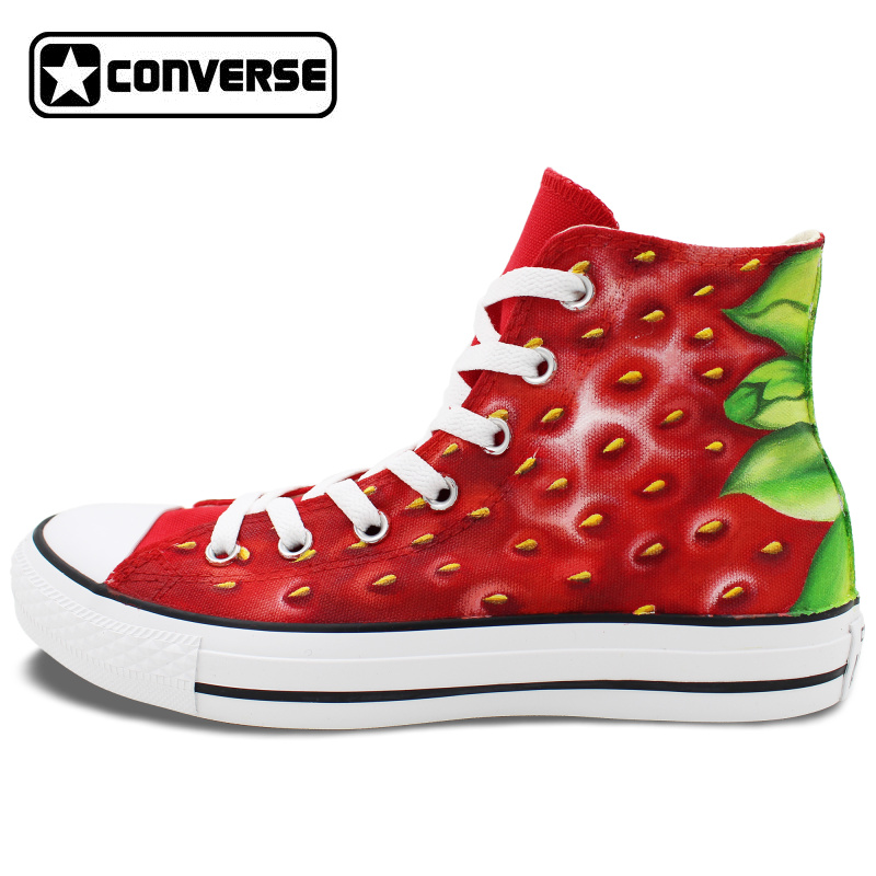 45a5c8e920ed Hand Painted Shoes Strawberry Converse Chuck Taylor Custom Design ...