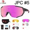 Óculos 5 lentes polarizadas para ciclismo, armação para miopia, óculos de sol para andar de bicicleta e esportes ao ar livre, unissex, X-TIGER 10