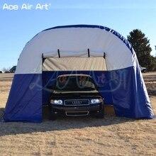 6 мл* 4 м Вт надувной туннельный тент, навес для гаража/автомобиля, навес для машины с полным покрытием и складные шторы для рекламы