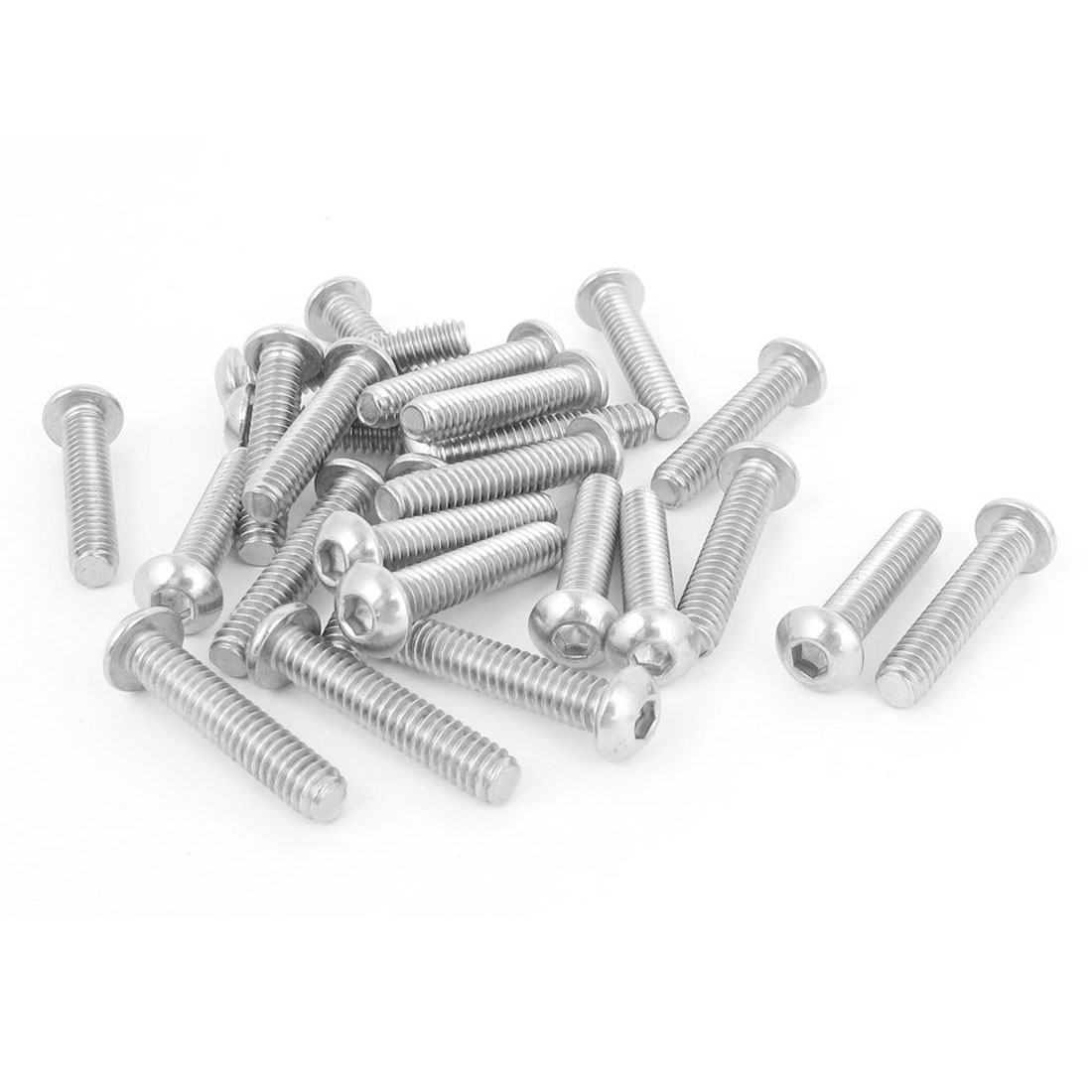 1/4 Inch-20x1-1/4 Inch Hex Socket Button Head Bolts Screws 25pcs 20pcs m3 6 m3 x 6mm aluminum anodized hex socket button head screw