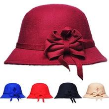 oZyc Brands Winter Fedora hats for female ladies felt top hat for girls homburg Women's hat Bowler caps chapeu masculino